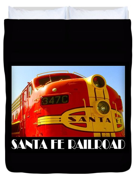 Santa Fe Railroad Color Poster Duvet Cover