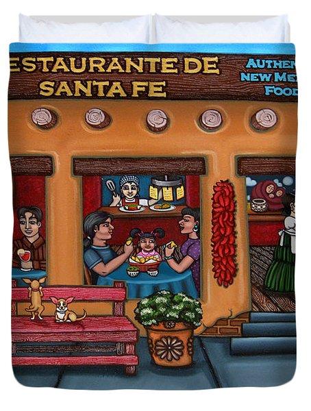 Santa Fe Restaurant Tyler Duvet Cover