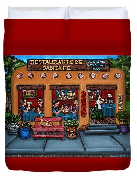 Santa Fe Restaurant Duvet Cover