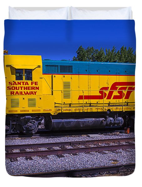 Santa Fe Southern Railway Engine Duvet Cover