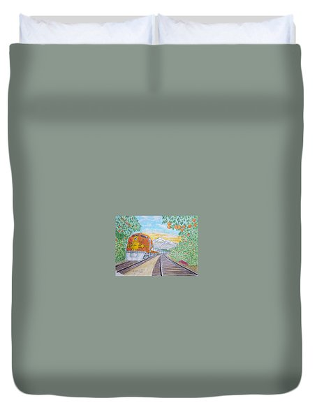 Santa Fe Super Chief Train Duvet Cover