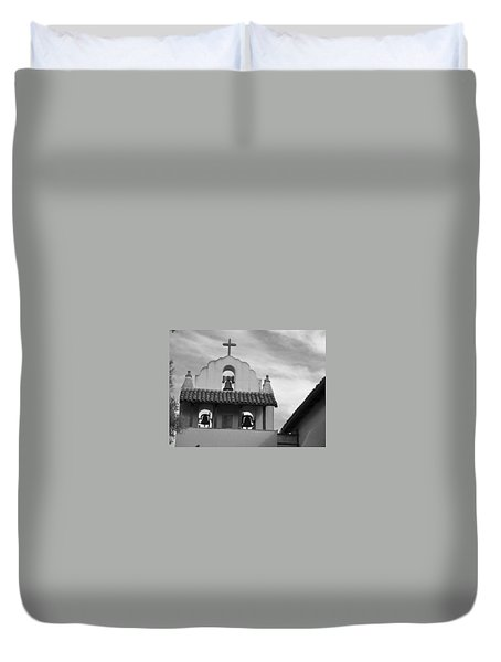 Santa Ines Mission Bell Tower Duvet Cover