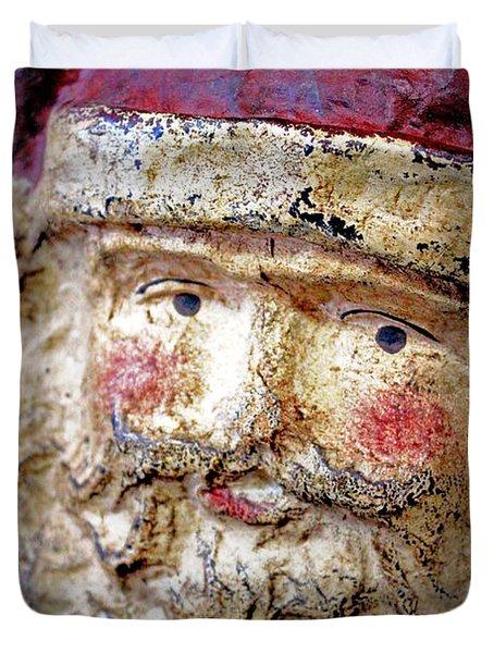 Duvet Cover featuring the photograph Santa by Lynn Sprowl