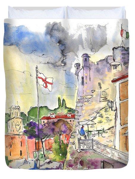 Santa Margherita In Italy 07 Duvet Cover by Miki De Goodaboom