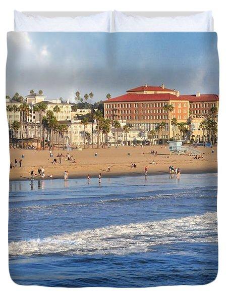 Santa Monica Beach View  Duvet Cover by Lynn Bauer