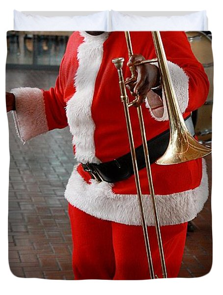 Santa New Orleans Style Duvet Cover by Joe Kozlowski