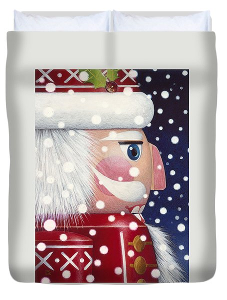 Santa Nutcracker Duvet Cover