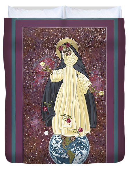Santa Rosa Patroness Of The Americas 166 Duvet Cover