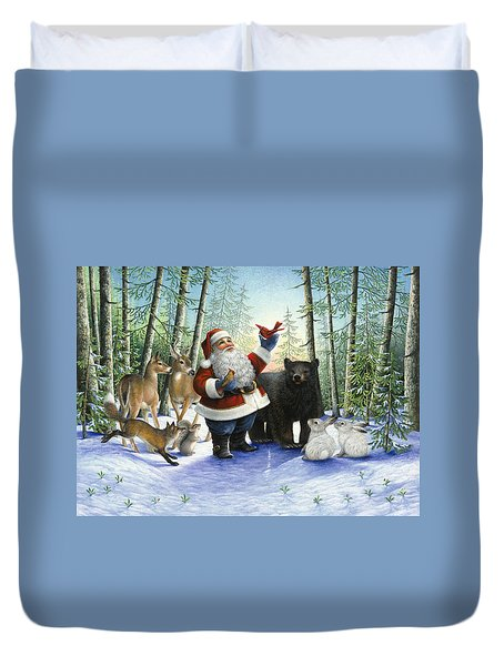 Santa's Christmas Morning Duvet Cover