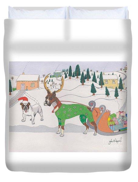 Santas Helpers Duvet Cover