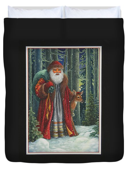 Santa's Journey Duvet Cover