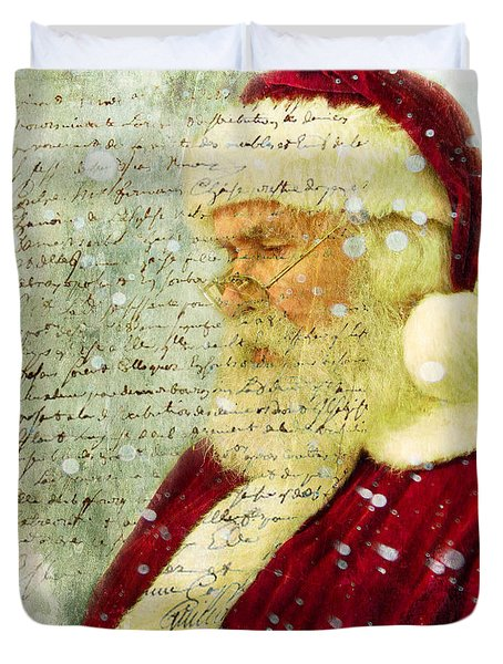 Duvet Cover featuring the photograph Santas Letter  by Nada Meeks
