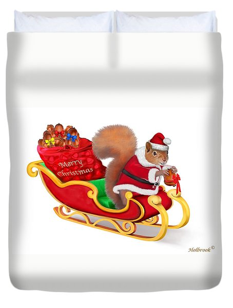 Santa's Little Helper Duvet Cover by Glenn Holbrook