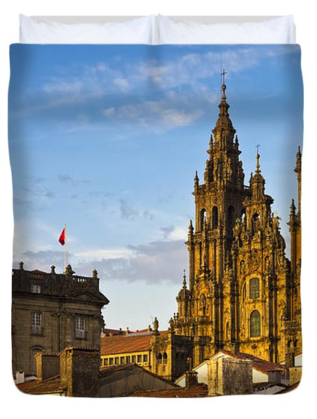 Duvet Cover featuring the photograph Santiago De Compostela Cathedral Galicia Spain by Pablo Avanzini
