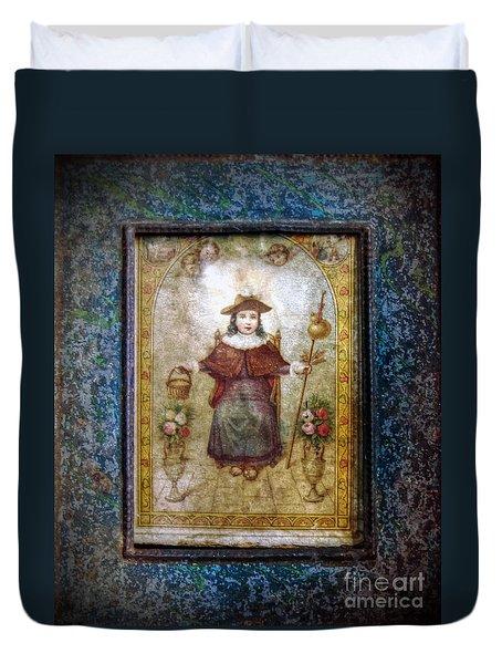 Santo Nino De Atocha Duvet Cover by Savannah Gibbs