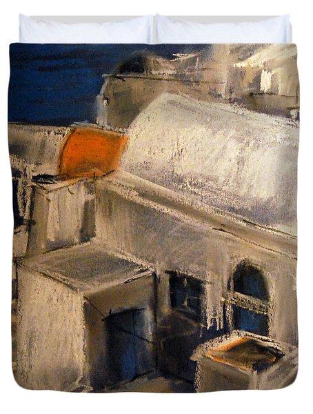 Santorini Duvet Cover by Mona Edulesco