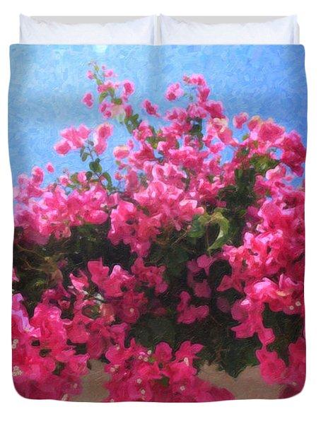 Santorini Flowers Grk1113 Duvet Cover