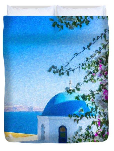 Santorini Grk4166 Duvet Cover