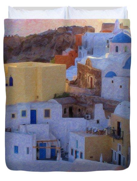 Santorini Grk6424 Duvet Cover
