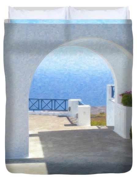 Santorini Grk8681 Duvet Cover