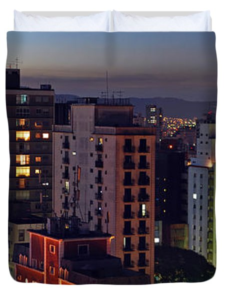 Sao Paulo Downtown At Dusk Duvet Cover