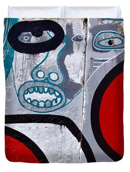 Sao Paulo Graffiti I Duvet Cover by Julie Niemela