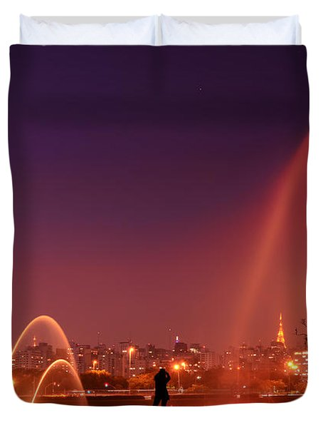 Sao Paulo - Ibirapuera Park At Dusk - Contemplation Duvet Cover