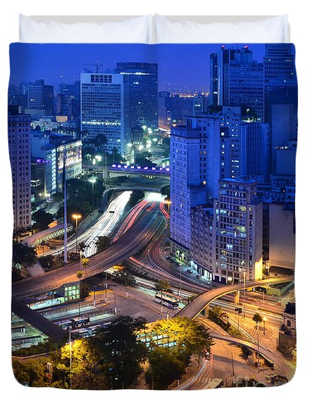 Sao Paulo Skyline - Downtown Duvet Cover