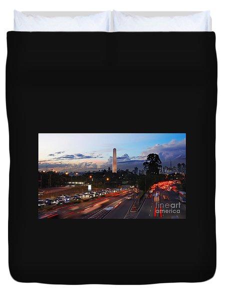 Sao Paulo Skyline - Ibirapuera Duvet Cover