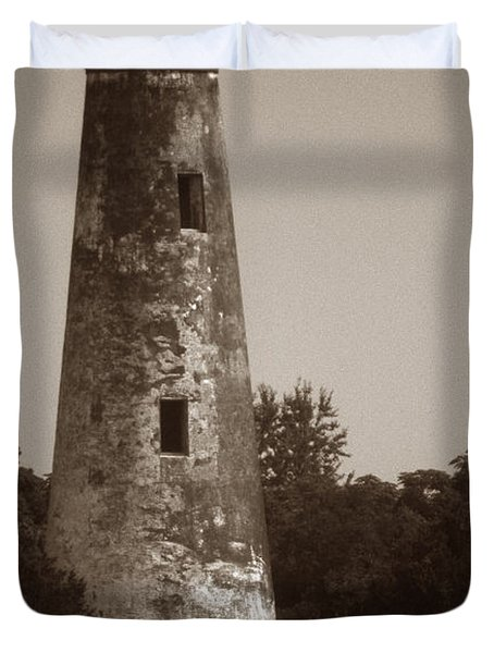 Sapelo Island Lighthouse Duvet Cover by Skip Willits