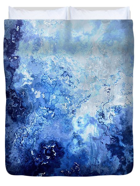 Sapphire Dream - Abstract Art Duvet Cover