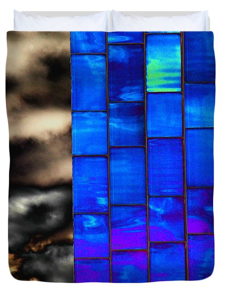 Duvet Cover featuring the photograph Sapphire Sunset by Christiane Hellner-OBrien