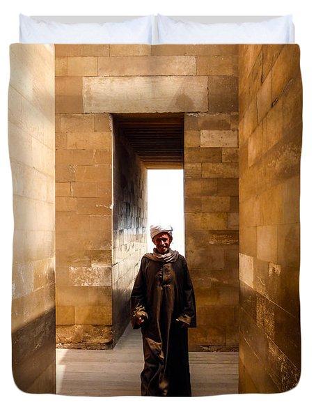 Saqqara Temple Duvet Cover