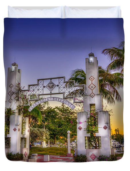 Sarasota Bayfront Duvet Cover