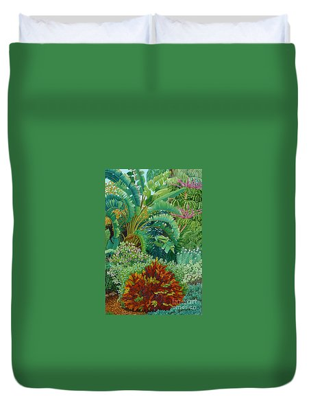 Sarasota Garden Duvet Cover by Beverly Theriault