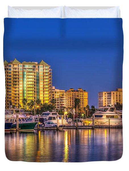 Sarasota Skyline Duvet Cover