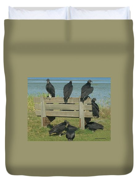 Sarasota Vultures Duvet Cover