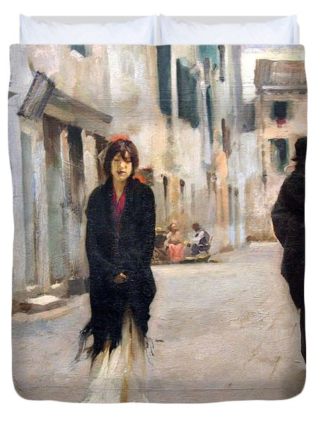 Sargent's Street In Venice Duvet Cover by Cora Wandel