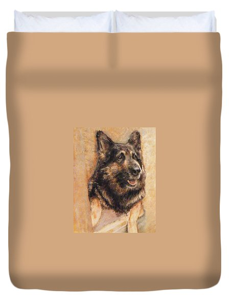 Sasha German Shepherd Duvet Cover