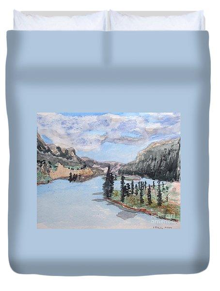 Saskatchewan River Crossing - Icefields Parkway Duvet Cover
