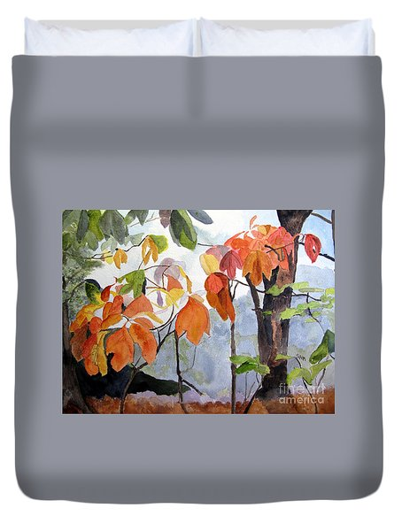 Sassafras Trees On The Ridge Duvet Cover