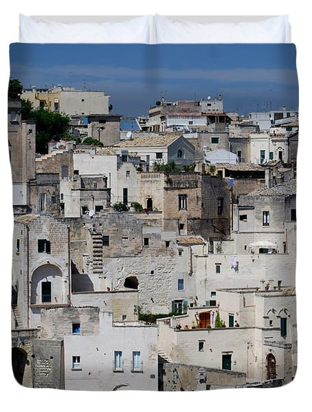 Sassi Of Matera Italy Duvet Cover