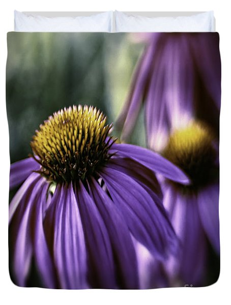 Duvet Cover featuring the photograph Sassy Light by Jean OKeeffe Macro Abundance Art