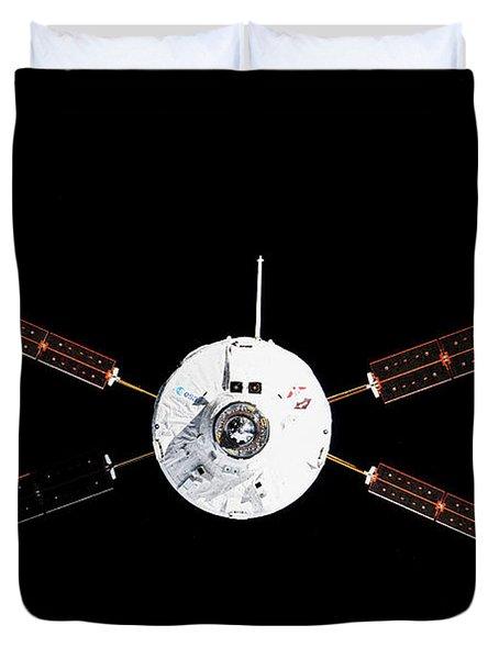 Satellite In Space Duvet Cover
