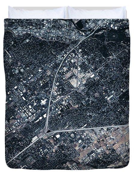 Satellite View Of Boise, Idaho, Usa Duvet Cover