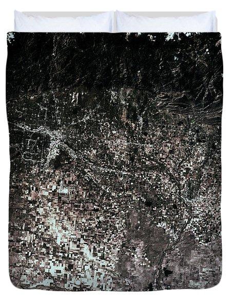 Satellite View Of Denver, Colorado, Usa Duvet Cover