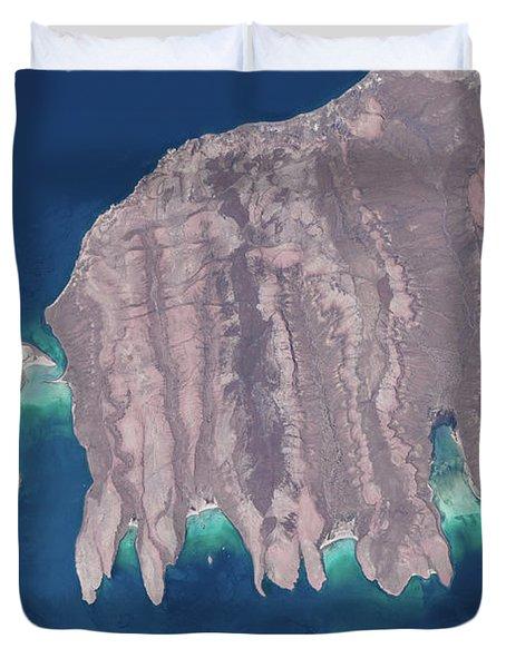 Satellite View Of Isla Del Espiritu Duvet Cover