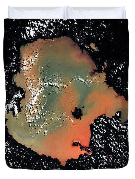 Satellite View Of Lake Tana, Amhara Duvet Cover