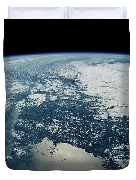 Satellite View Of Planet Earth Showing Duvet Cover