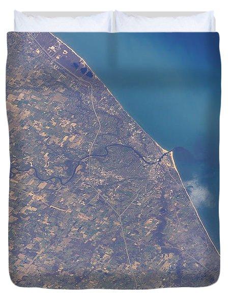 Satellite View Of St. Joseph Area Duvet Cover by Stocktrek Images